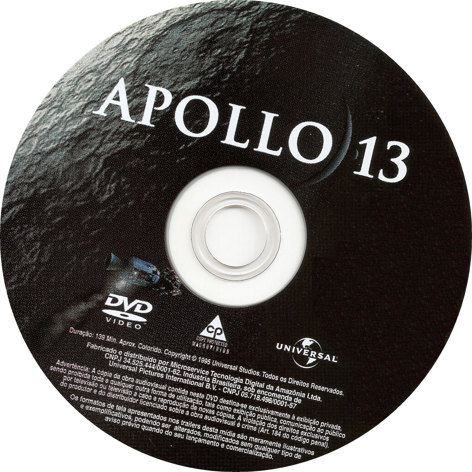 Label DVD Apollo 13