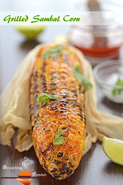 Grilled Chili Sambal Corn