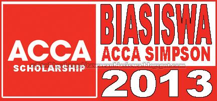 Tawaran Biasiswa Perakaunan ACCA Simpson | Scholarships