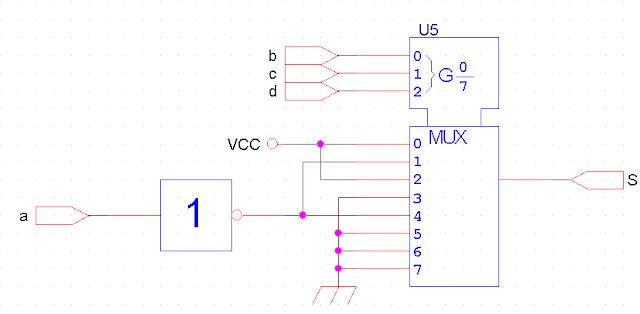 Exercice de logique combinatoire avec solution for Les circuit combinatoire