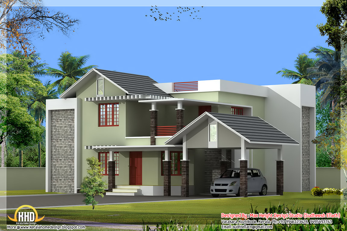 2550 nice home elevation kerala home design and for Nice house design