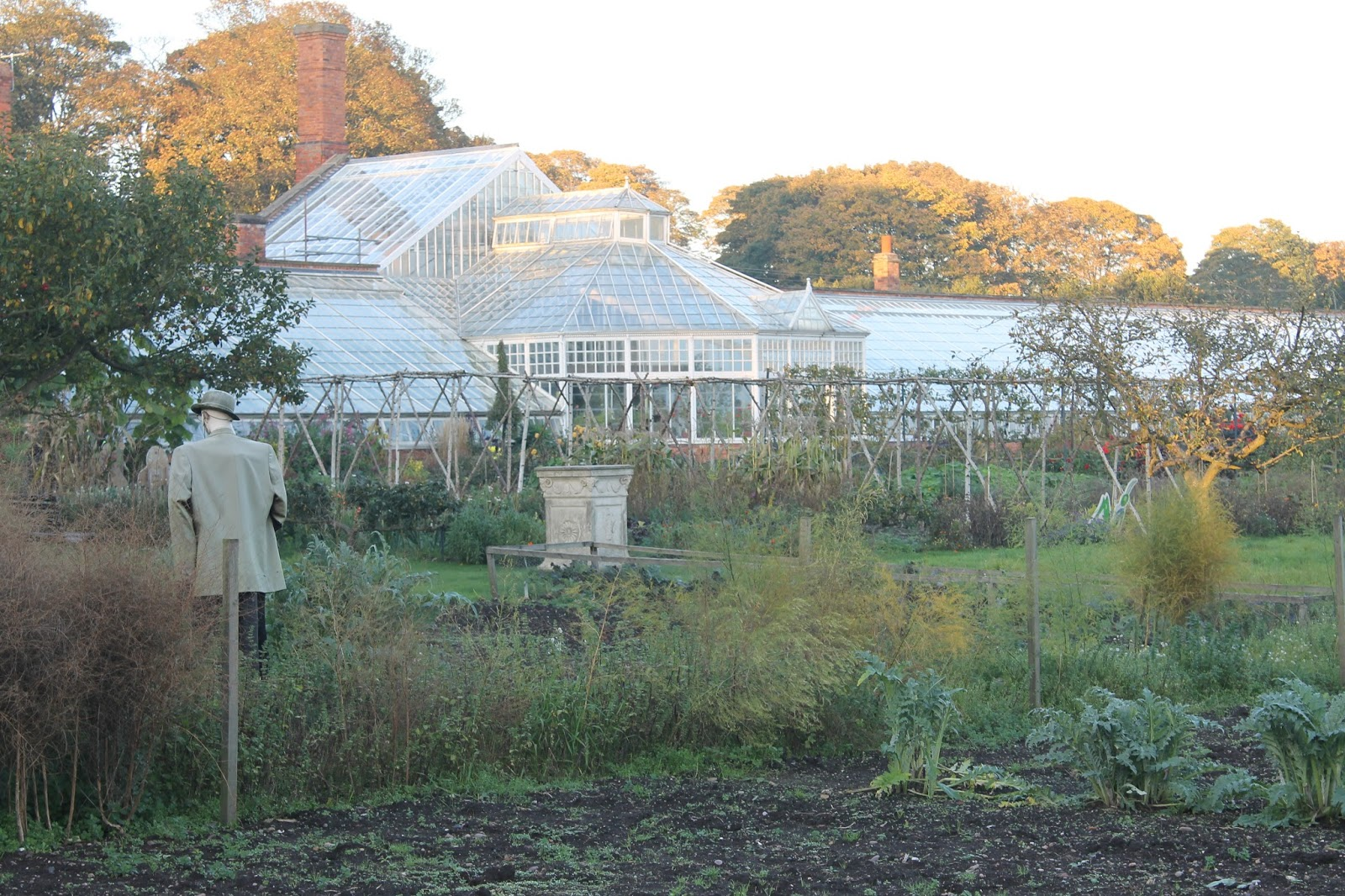 Walled Kitchen Garden Jibberjabberuk Clumber Park Walled Kitchen Garden In November