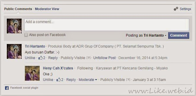 Comment facebook responsive
