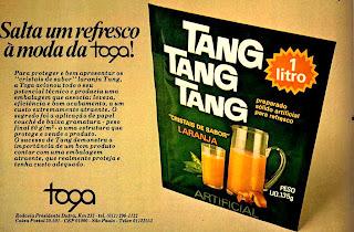 propaganda suco Tang - 1979.  os anos 70; propaganda na década de 70; Brazil in the 70s, história anos 70; Oswaldo Hernandez;
