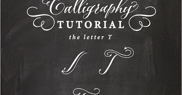 Antiquaria calligraphy tutorial the capital letter t T in calligraphy
