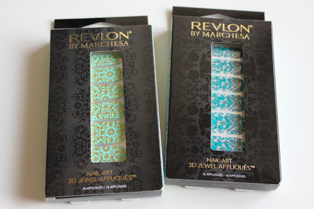 Revlon by Marchesa 3D Jewel Appliques Silk Rosettes and 24K Brocade Nail art stickers