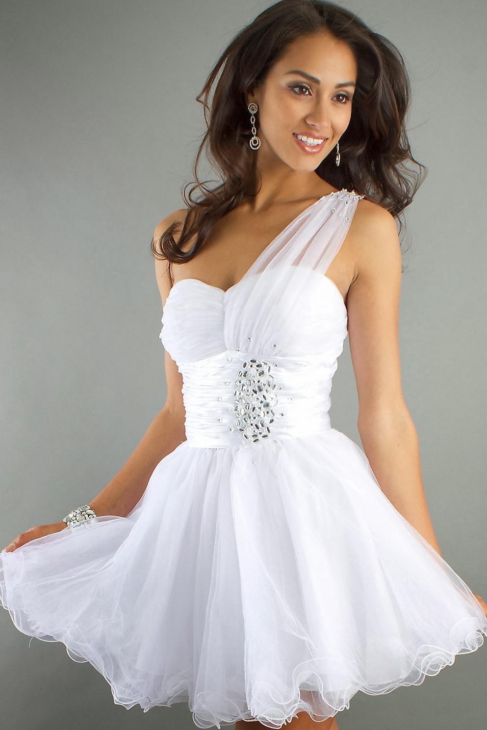 Vestidos de Coctel,, Blanco
