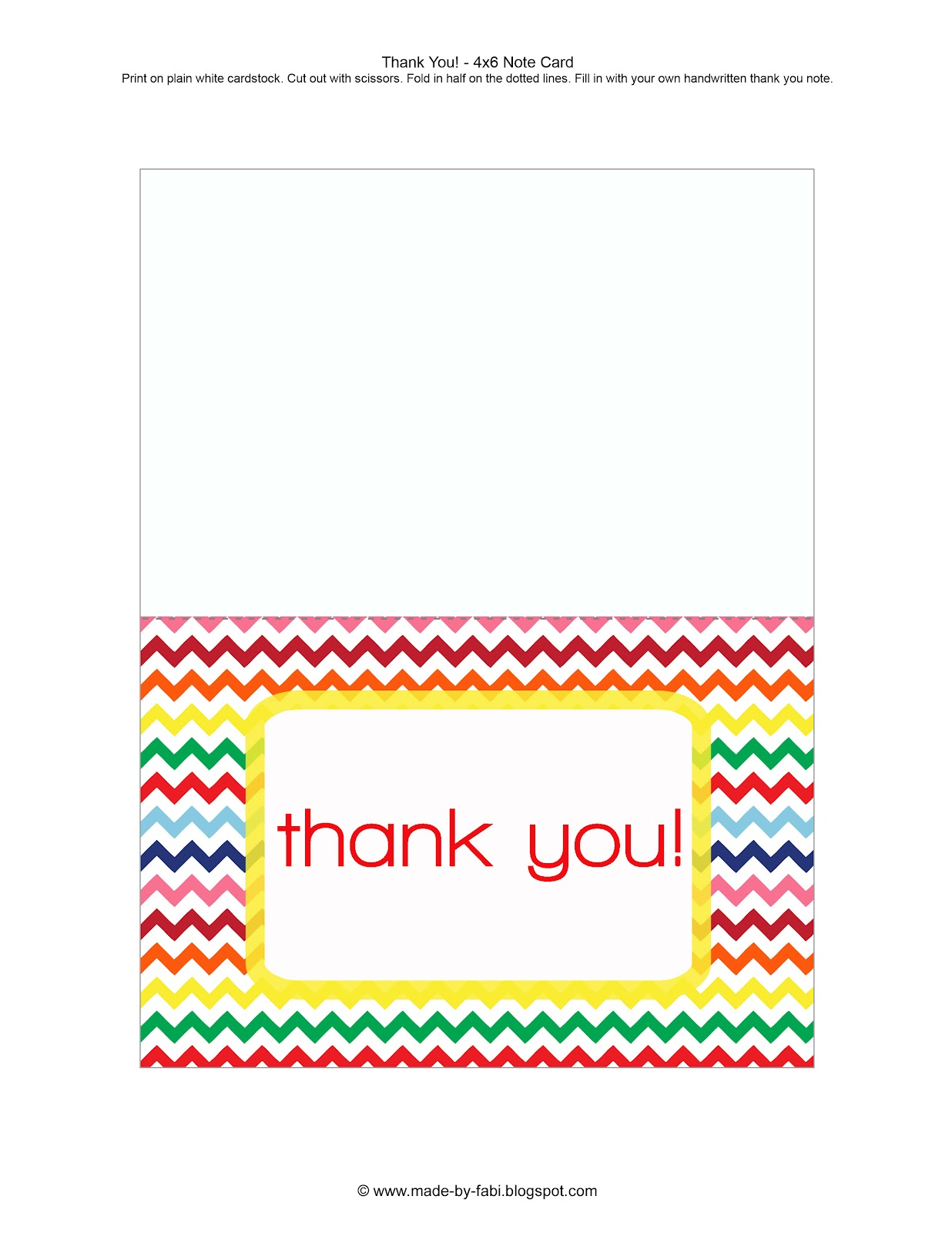 Sweet image intended for printable thank you card