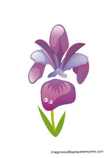 dibujo de flor violeta  flores en laminas para imprimir