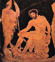 La Odisea es el poema del retorno a la tierra natal, relata las dificultades que presentaba la vida marítima. Se cuentan las arriesgadas aventuras del rey de Itaca, Odiseo o Ulises