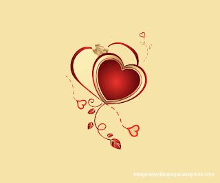 corazon y pequeñas flores para imprimir