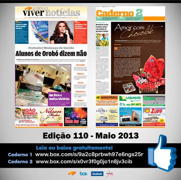 Edição de numero 110 do Jornal Viver Noticias já pode ser lida na web, confira!