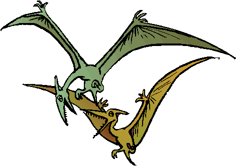 Fighting Pteranodon Free Animal Clipart