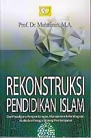 toko buku rahma: buku rekonstruksi pendidikan islam, pengarang prof. dr. muhaimin, m.a, penerbit rajawali pers