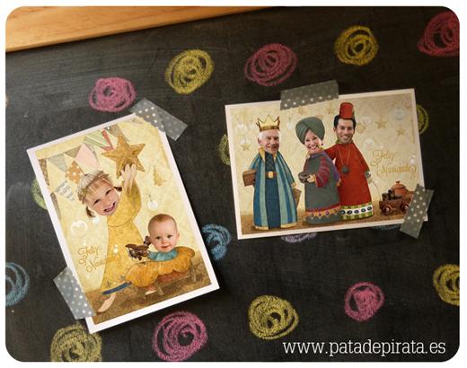 qu mejor forma de felicitar estas navidades a todos los piratas que con nuestras preciosas postales personalizadas el portal de beln los tres reyes