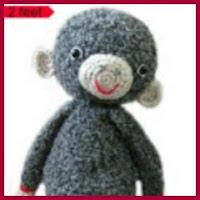 Mono peludo amigurumi