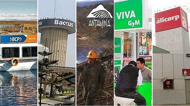 dónde trabajar en Perú las mejores empresas para laborar en Minas, bancos, industria y construción