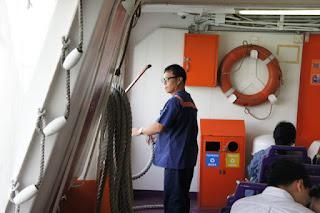 A bordo del traghetto Xin Chao