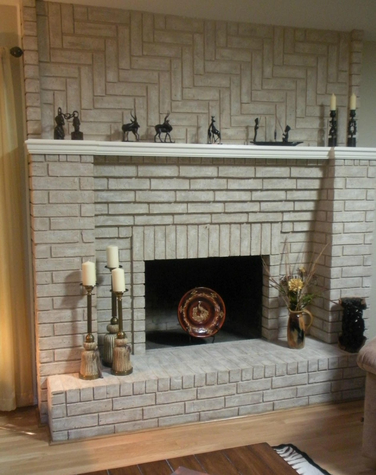 Fireplace decorating february 2012 Brick fireplace wall decorating ideas