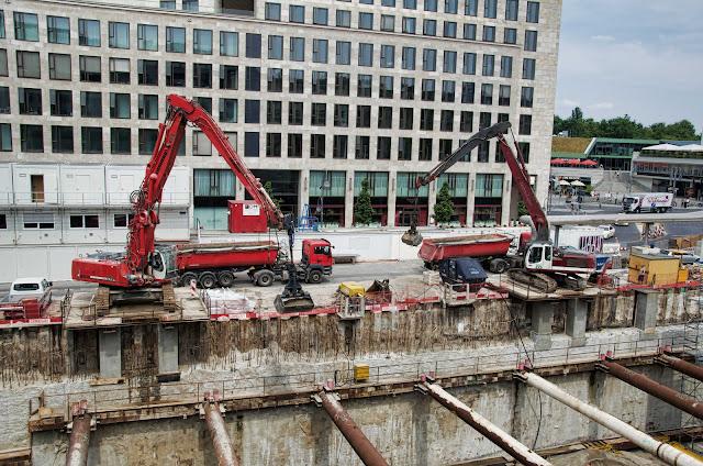 Baustelle Upper West, Hotel, Büro, Einzelhandel, (ursprünglich: Atlas Tower), geplante Höhe: 118 Meter, Breitscheidplatz, 10623 Berlin, 21.07.2014