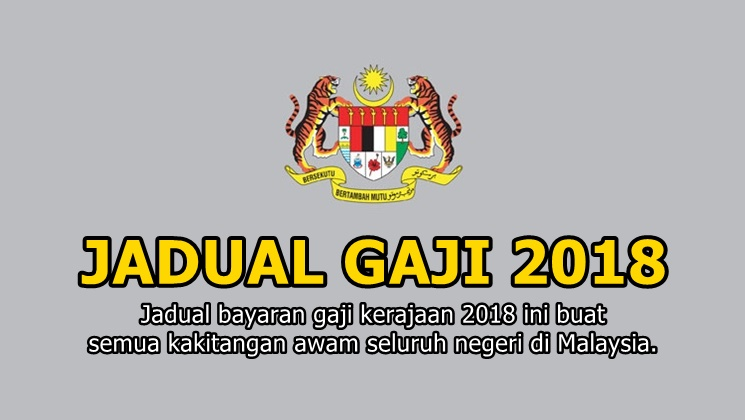 JADUAL & TARIKH GAJI 2018