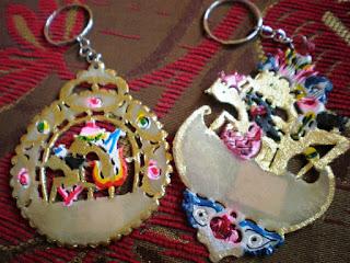 unik, menarik, souvenir, gantungan, kunci, wayang, batik, kerajinan, tangan