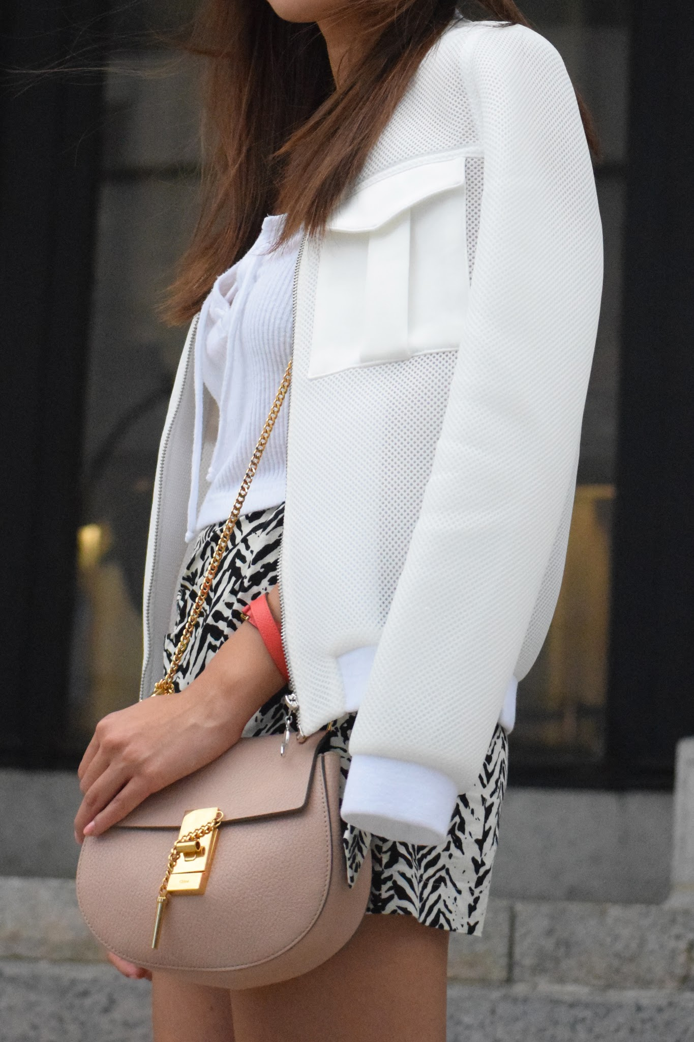 explicit affairs angela chen NYFW chloe drew bag - topshop bomber - outfit