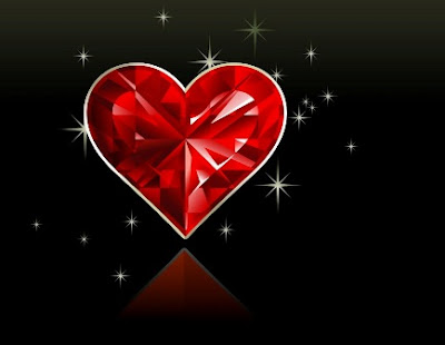 Diamond Heart HD Romantic Wallpaper