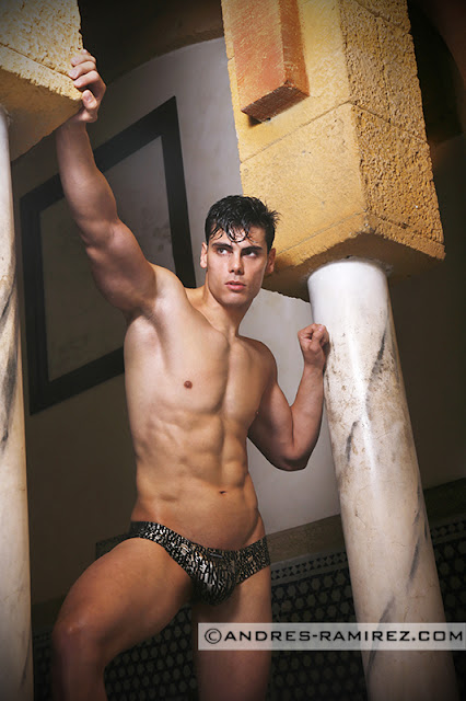 Sexy model David Hernandez by Andres Ramirez in Manstore underwear