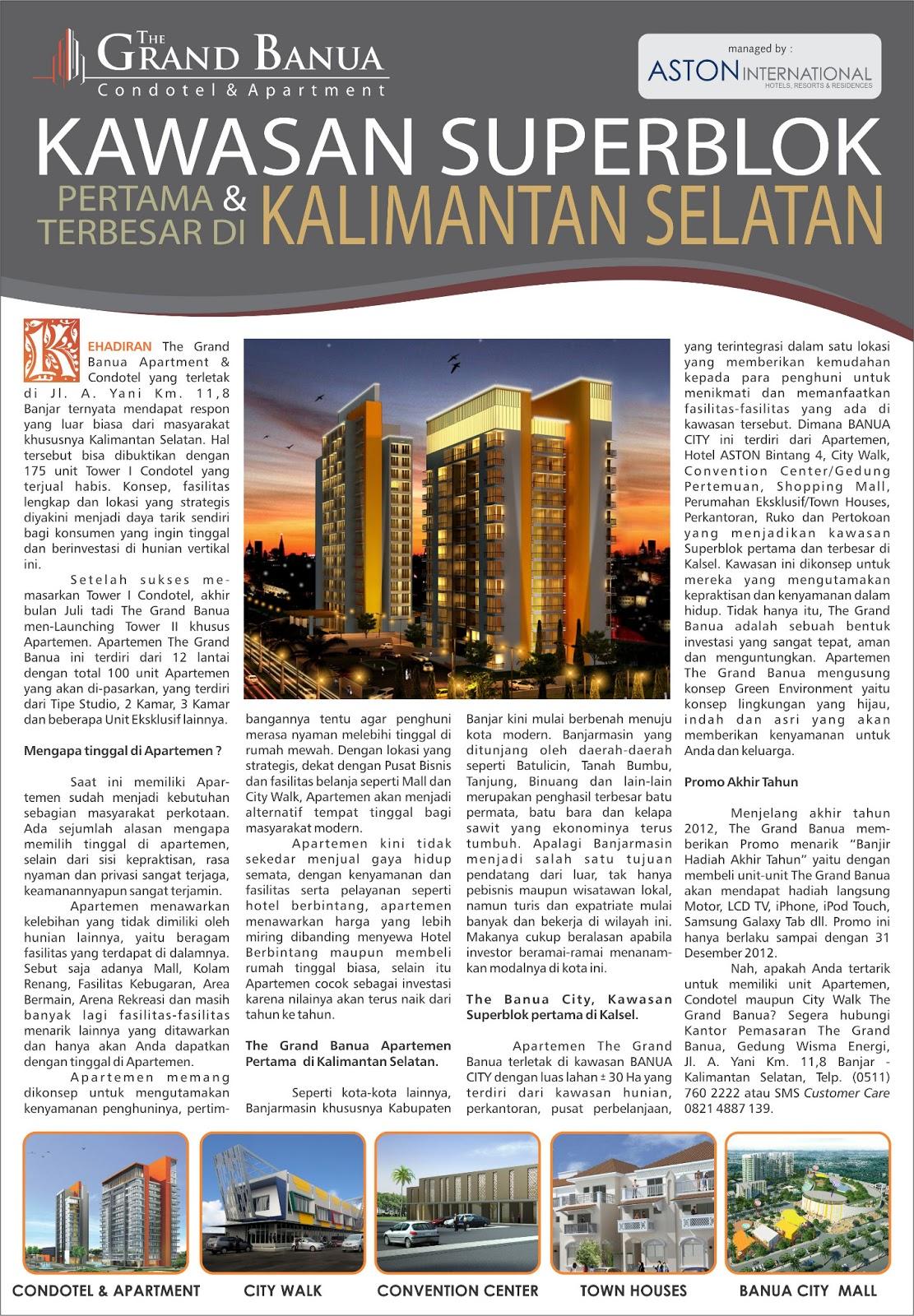 Grand Banua Kawasan Superblok Terbesar Kalimantan Selatan