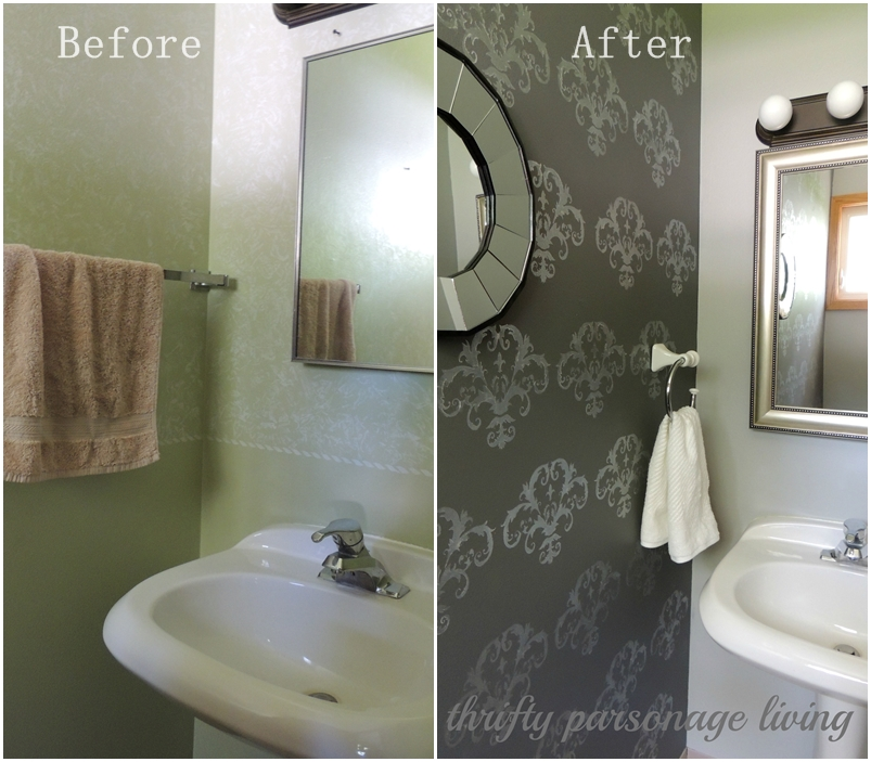 Thrifty parsonage living diy bathroom makeover for Cost to build a half bath