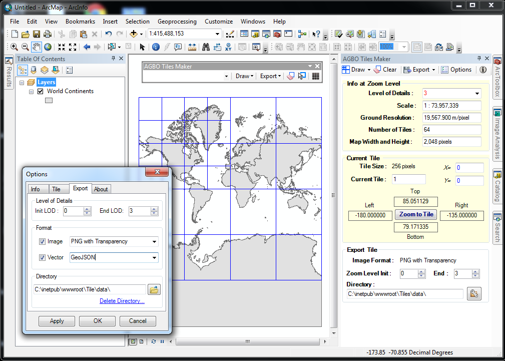 Agbo tiles maker for arcgis 10 ernesto giron this current version provides tools for creating and exporting vector and raster tiles to embed into popular online map servers gumiabroncs Gallery