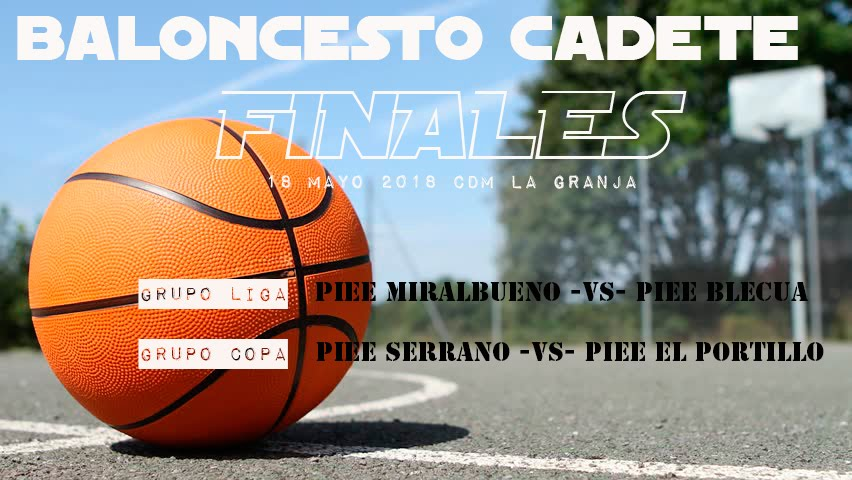 FINAL BASKET CADETE 18/05/2018