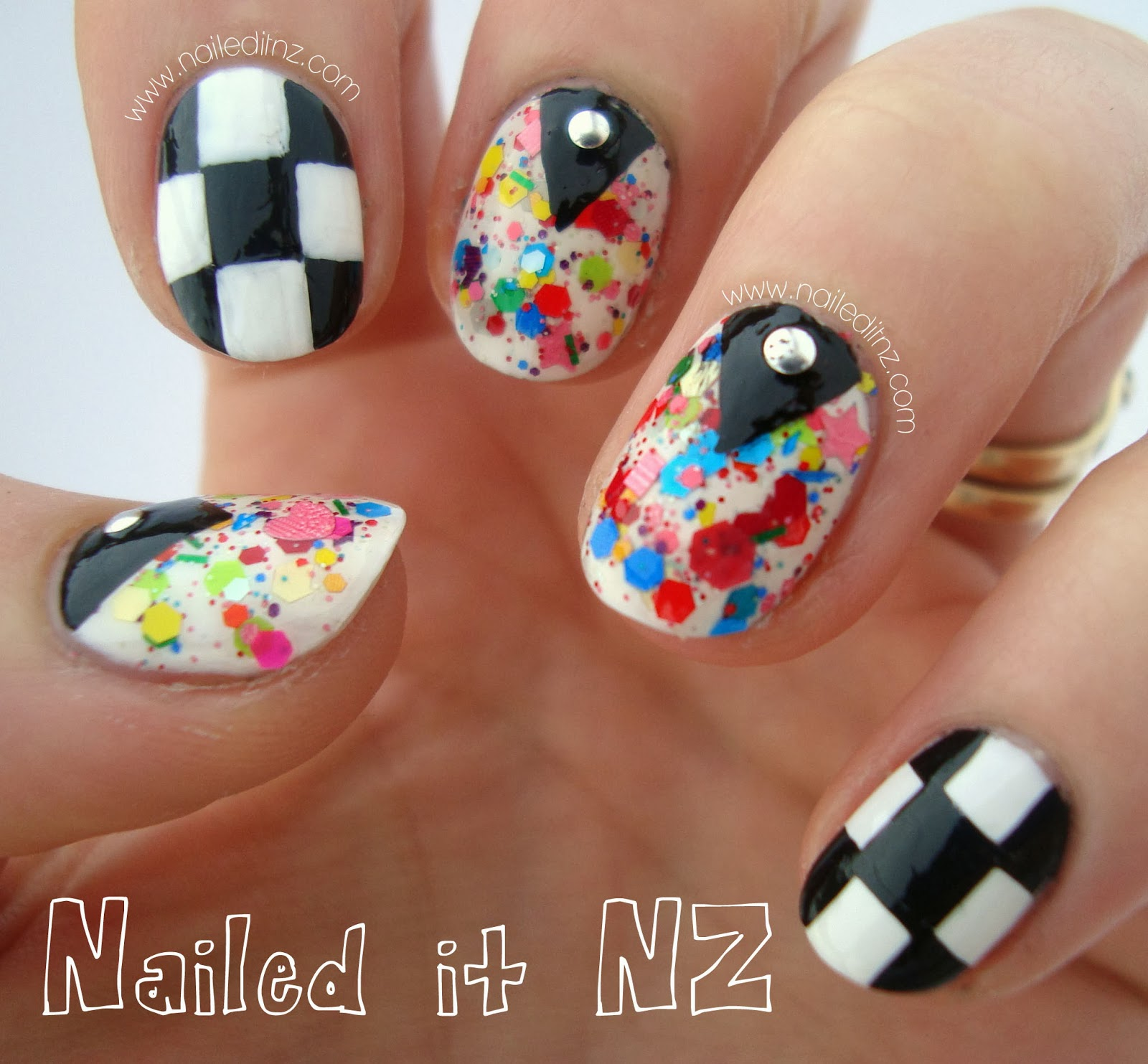 Two Nail Designs Using Studs From Born Pretty Store