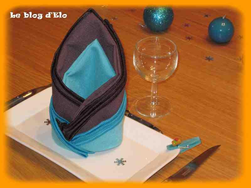 Le blog d 39 elo d co de table no l en turquoise et chocolat - Deco table turquoise chocolat ...