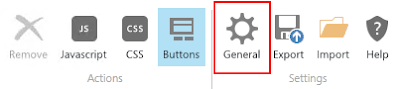 SharePoint Forms Designer General Settings button