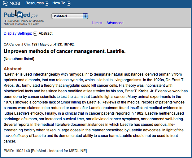 Image result for laetrile pubmed jpg