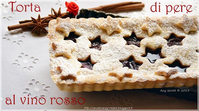 torta di pere al vino rosso
