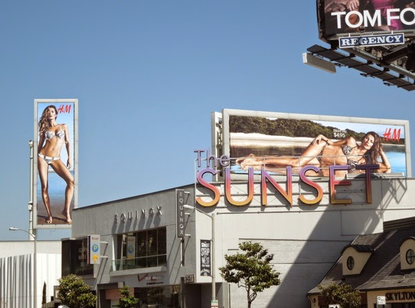 H&M bikini 2014 billboards Sunset Strip