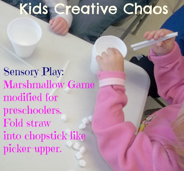 Sensory Marshmallow Game for Preschoolers Edible