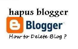 hapus blog di blogger blogspot