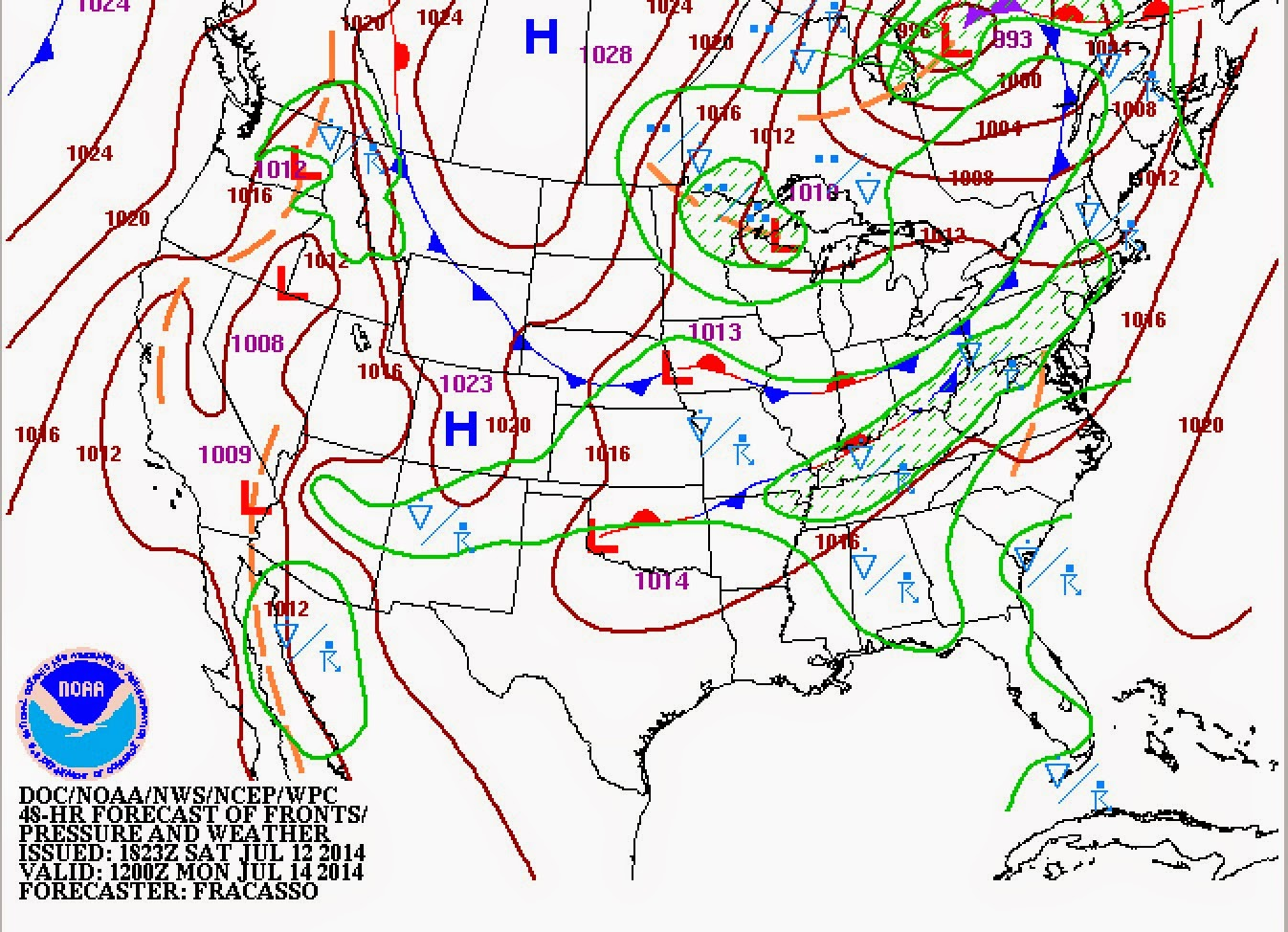 frontal boundary precipitation approximately 8am in northwest nj a bit later for central southern nj times may change prior to monday 7 14 14