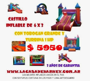 PROMO CASTILLO INFLABLE 6X3