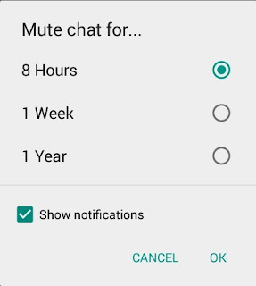 mute whatsapp chats