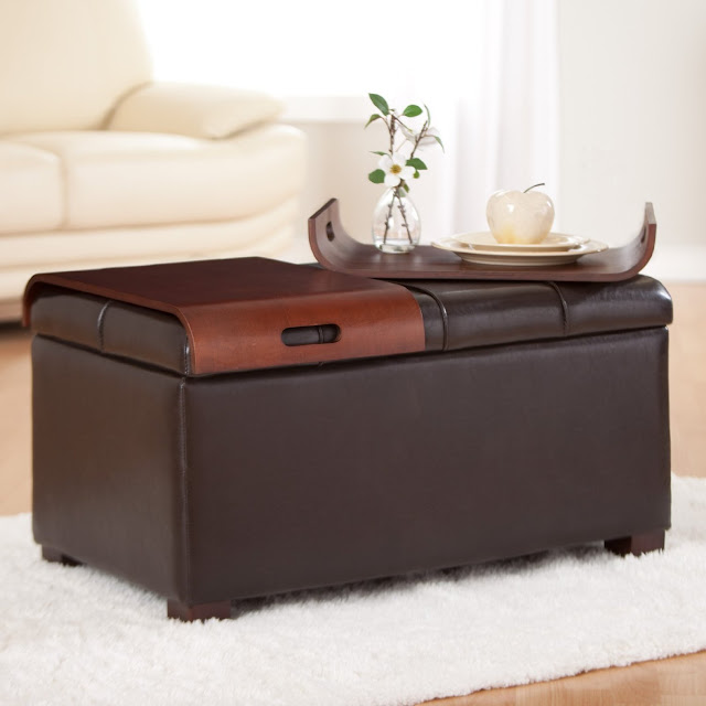 Storage storage ottoman with tray Ottoman coffee table trays