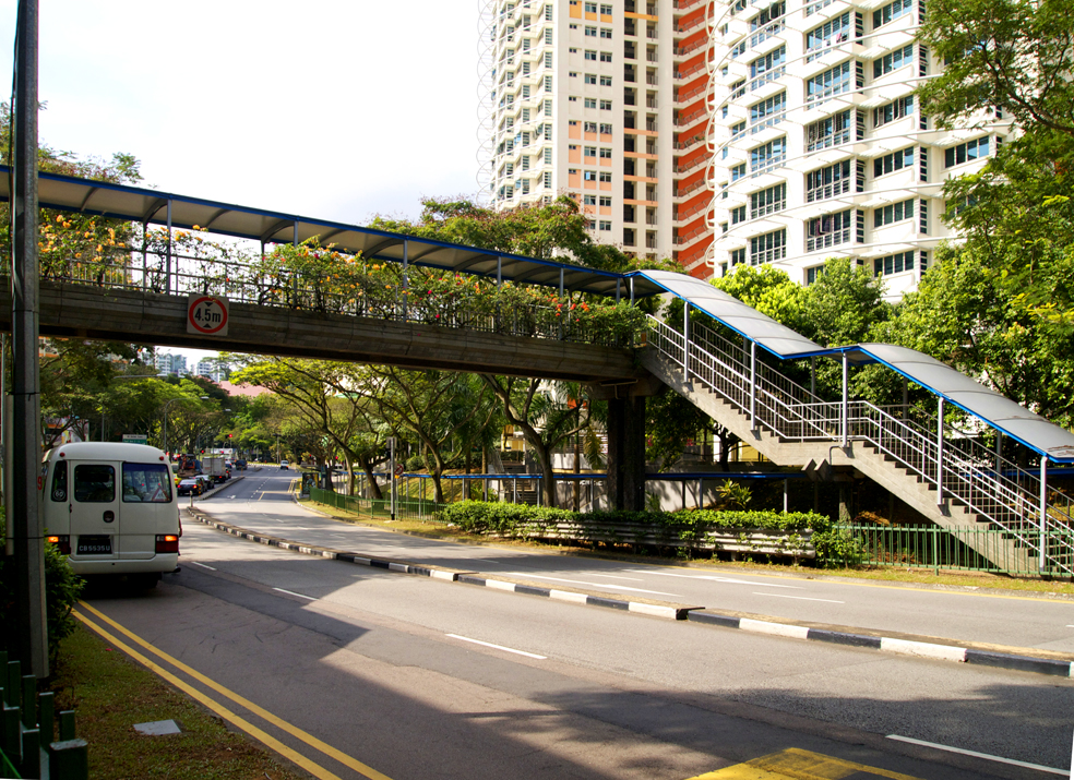 Singapore overhead pedestrian bridges singapore overhead for Design bridge singapore