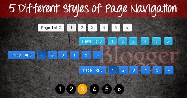 navigasi nomor halaman blog untuk pc dan ponsel
