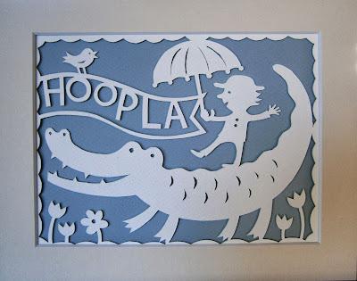 Hoopla - a papercut by Gerald Hawksley