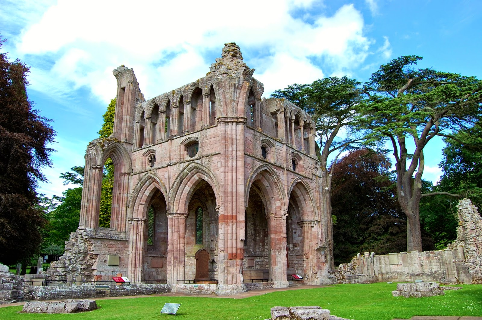Sir Walter Scott's tomb in ruins of Dryburgh Abbey