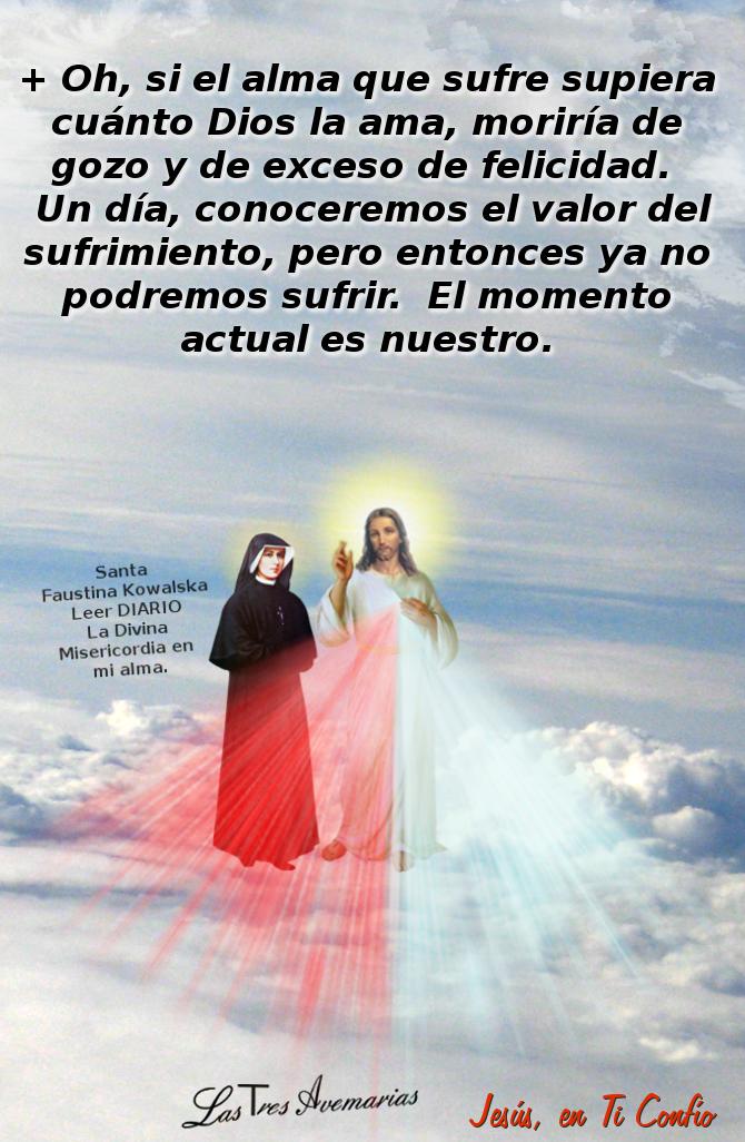 imagen de santa faustina en las nuves con jesus
